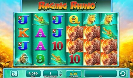Raging Rhino Slot screenshot 2