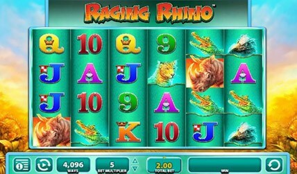 Raging Rhino Slot screenshot 3