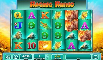 Raging Rhino Slot screenshot 1